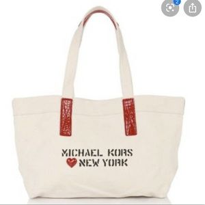 Michael kors canvas tote